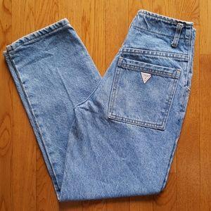 Vintage 80's Guess High Waist Jeans Light Wash XXS